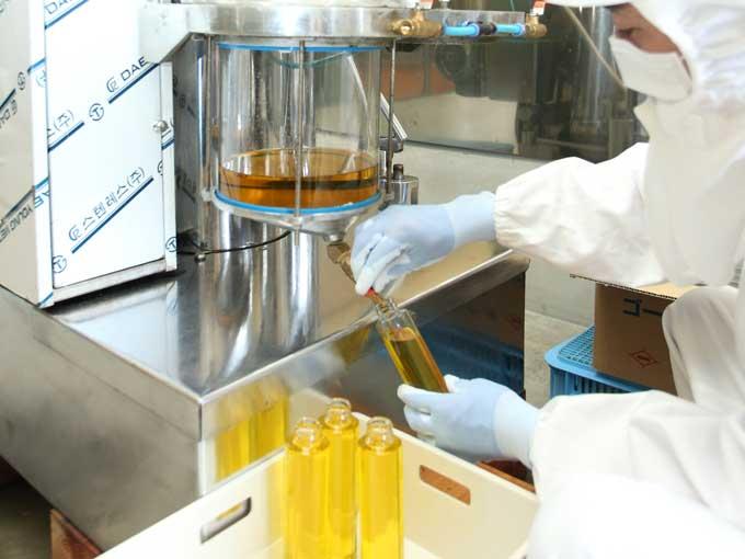 奥出雲中村ファームのえごま油はご注文後、搾油しています。